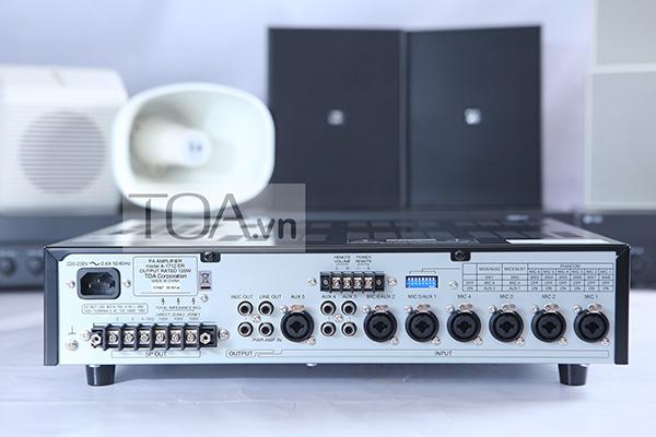 Amply-Mixer-120W-chọn-2-vùng-loa-TOA-A-1712-4