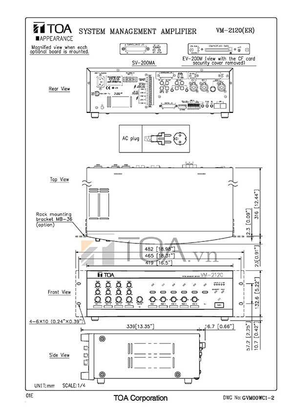 Mixer-Amplifier-120W-chọn-5-vùng-loa-TOA-VM-2120-2